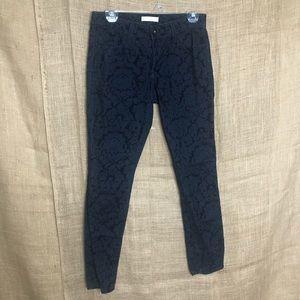 Banana Republic 27 Velvet Navy Blue Pants Skinny